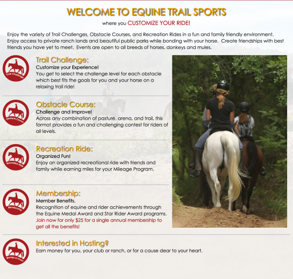 equine trail sports about
