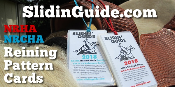 www.slidinguide.com reining pattern cards